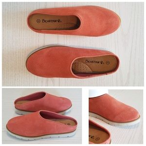 Suede Never Wet Coral Slip-On Mule by Bearpaw